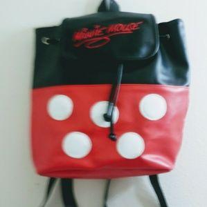 Disney World Minnie Mouse Vinyl Backpack